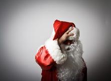 Sfrustowany Święty Mikołaj zdjęcia stock