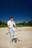 Sfrustowany golf fotografia stock