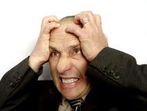 sfrustrowany człowiek żeni Obraz Stock