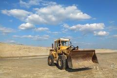 Sfruttamento della sabbia Immagini Stock