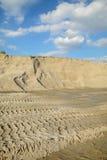Sfruttamento della sabbia Fotografia Stock