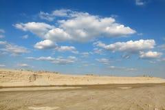 Sfruttamento della sabbia Fotografie Stock