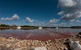 Sfruttamento della salina in Mallorca Fotografia Stock