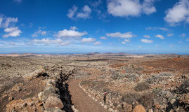 SFuerteventura - Long-distance path GR 131 Royalty Free Stock Images