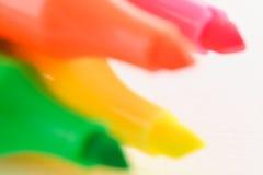 Sfuocatura al neon Fotografia Stock