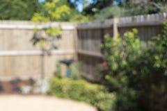 Sfuocatura Bokeh del cortile Fotografie Stock Libere da Diritti