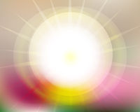 Sfuocatura degli insiemi di Sun di aumenti di Sun Fotografia Stock