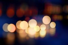Sfuocatura dei punti luminosi di colore Fotografia Stock