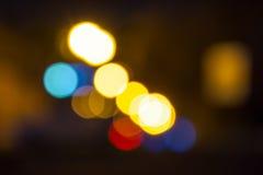 Sfuocatura dell'estratto della città di notte Fotografia Stock Libera da Diritti