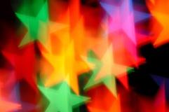 Sfuocatura dell'estratto delle stelle cadenti Fotografia Stock Libera da Diritti