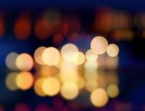 Sfuocatura dell'indicatore luminoso del punto di Christmast Fotografia Stock Libera da Diritti