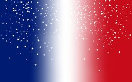 Sfuocatura della bandiera della Francia con lo spargimento di carta ab della sovrapposizione del partito di celebrazione royalty illustrazione gratis