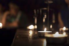 Sfuocatura della candela Immagini Stock