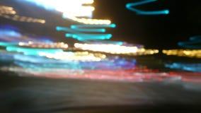 Sfuocatura delle luci notturne Fotografia Stock Libera da Diritti