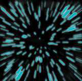 Sfuocatura dello zoom di Hyperspace Fotografie Stock