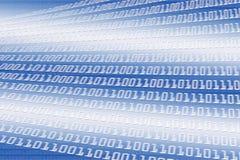 Sfuocatura di codice binario Immagine Stock
