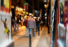 Sfuocatura di Digitahi del quarto latino a Parigi Fotografie Stock
