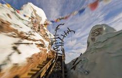 Sfuocatura di movimento del coster del rullo Disney 2 Immagine Stock