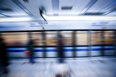 Sfuocatura di movimento del treno Fotografie Stock Libere da Diritti
