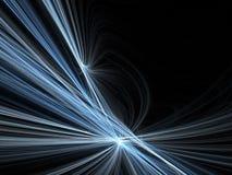 Sfuocatura di movimento di velocità nella notte Fotografia Stock