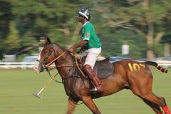 Sfuocatura di movimento nigeriana del giocatore di polo Fotografia Stock Libera da Diritti