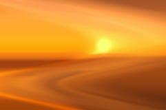 Sfuocatura di tramonto Fotografie Stock Libere da Diritti