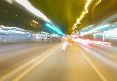 Sfuocatura di velocità Fotografia Stock