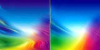 Sfuocatura variopinta dell'arcobaleno royalty illustrazione gratis
