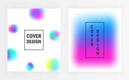 Sfuocature astratte di pendenza, coperture liquide di colore messe Forme fluide con il fondo luminoso di colori Progettazione fut illustrazione vettoriale