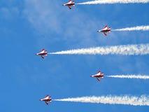 SG50 - Desfile aéreo dos cavaleiros pretos Imagem de Stock