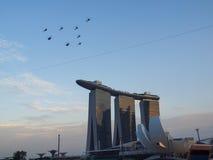 SG50 - Desfile aéreo dos helicópteros Imagem de Stock