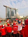 SG50 - Dia nacional de Singapura/MBS Fotografia de Stock
