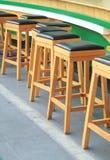 Sgabelli da bar di legno Immagine Stock