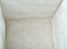 Sgabello dell'ottomano delle feci del piede sopra fondo bianco isolato Fotografia Stock Libera da Diritti
