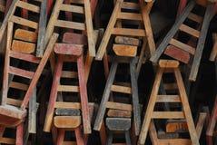 Sgabello di legno Immagini Stock Libere da Diritti