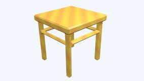 Sgabello di legno Fotografia Stock