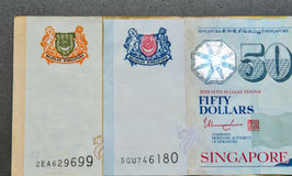 SGD δολαρίων τραπεζογραμματίων της Σιγκαπούρης Στοκ φωτογραφία με δικαίωμα ελεύθερης χρήσης