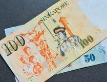 SGD δολαρίων τραπεζογραμματίων της Σιγκαπούρης Στοκ Φωτογραφία