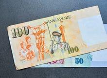 SGD δολαρίων τραπεζογραμματίων της Σιγκαπούρης Στοκ Εικόνες