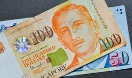 SGD do dólar da cédula de Singapura Fotografia de Stock