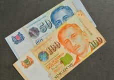 SGD van de het bankbiljetdollar van Singapore Royalty-vrije Stock Foto