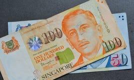 SGD van de het bankbiljetdollar van Singapore Stock Foto