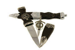 Sgian Dubh & kilt Pin Stock Photography