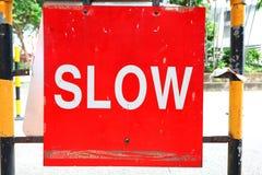 Sgin lento del tráfico Foto de archivo