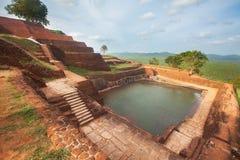 Sgiriya, wierzchołek na lew skale Zdjęcie Royalty Free