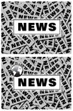 Sgn marcante a caldo di notizie di mondo Fotografie Stock