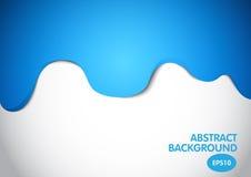 Sgocciolatura astratta blu di colore sul fondo bianco, progettazione di vettore Immagini Stock