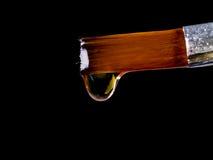 Sgocciolatura dell'olio dalla spazzola Immagini Stock Libere da Diritti