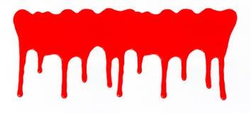 Sgocciolatura di colore rosso, fondo cadente di colore immagine stock