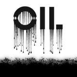 Sgocciolatura nera dell'olio Immagini Stock